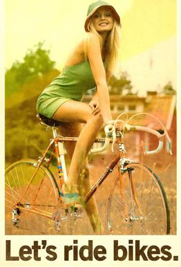 Let's Ride Bikes -Acrylglasbild