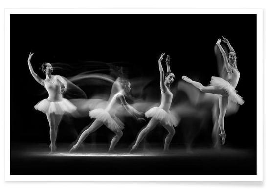 Ballerina Art Wave - Premium poster