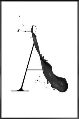 Artsy A - Affiche sous cadre standard