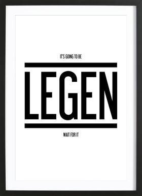 Legendary 1 - Poster in Wooden Frame