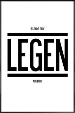 Legendary 1 -Bild mit Kunststoffrahmen