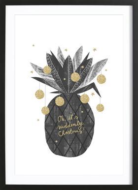 Sudden Christmas Poster i träram