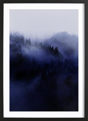 Bluescape 3 -Bild mit Holzrahmen