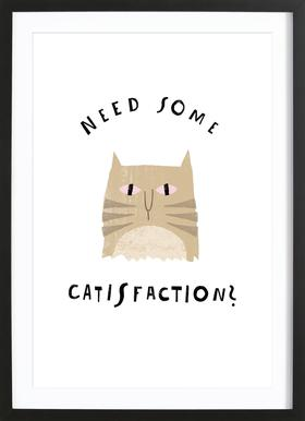 Catisfaction 8 Framed Print