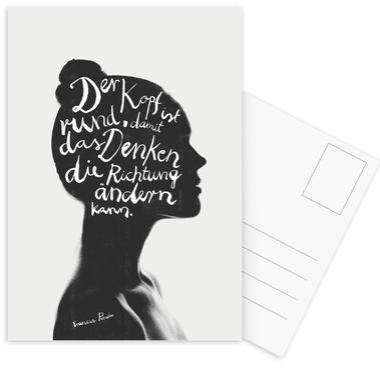 Denken Postcard Set
