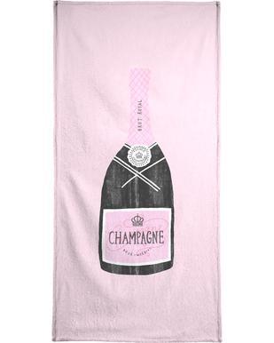 Champagne serviette de plage