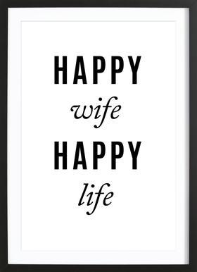 Happy Wife Framed Print