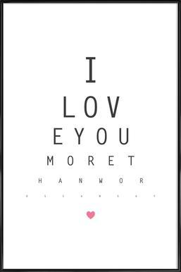 Love No.3 Framed Poster