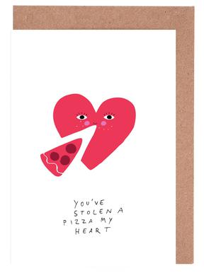 A Pizza My Heart Greeting Card Set
