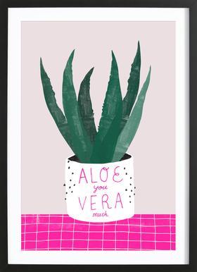 Aloe Vera Poster i träram