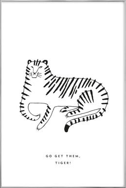 Tiger Poster in Aluminium Frame