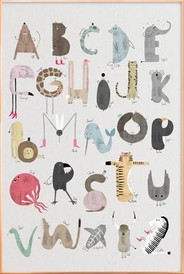 ABC Kids poster in aluminium lijst