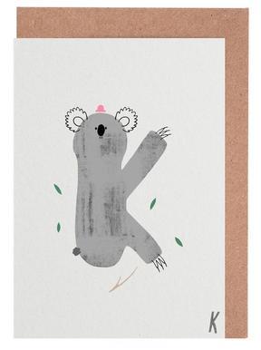 ABC Kids - K Greeting Card Set