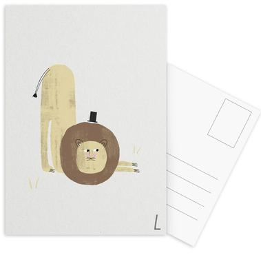 ABC Kids - L Postcard Set