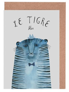 French Animals Tigre Greeting Card Set