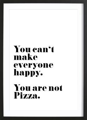Pizza ingelijste print