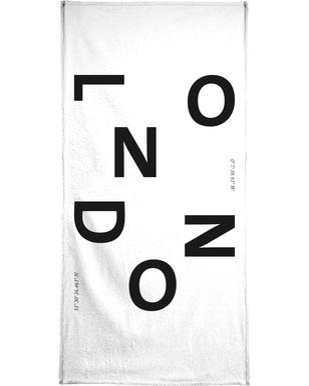 Cities - London Bath Towel