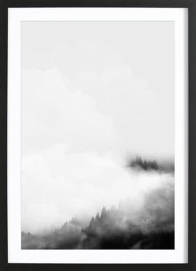 Landscape No. 40 - Poster in Wooden Frame