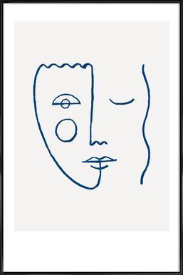 Faces No. 2 Framed Poster