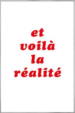 Realite No. 3 Poster in Aluminium Frame
