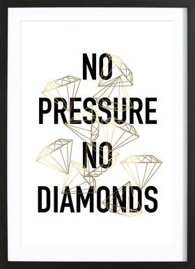 No Pressure Framed Print