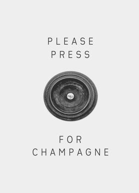 Please Press -Leinwandbild
