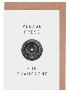 Please Press Greeting Card Set