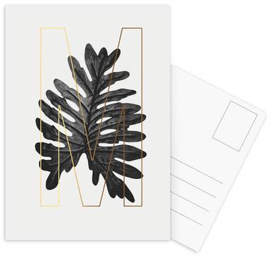 Plants M -Postkartenset