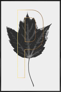 Plants P Framed Poster