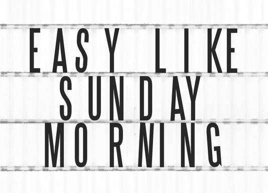 Sunday Morning canvas doek