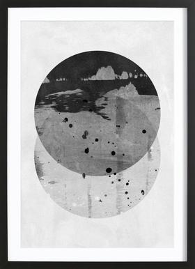GEOMETRY 3 - Affiche sous cadre en bois