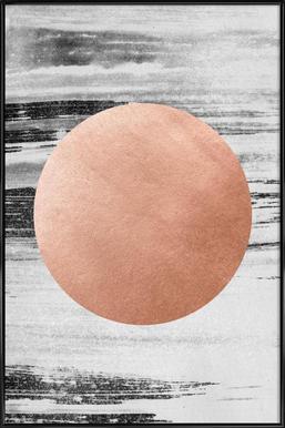 Rose Gold #1 - Poster im Kunststoffrahmen