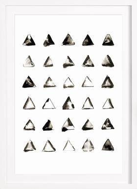 Triangles - Affiche sous cadre en bois