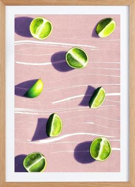 Fruit 10 - Poster im Holzrahmen