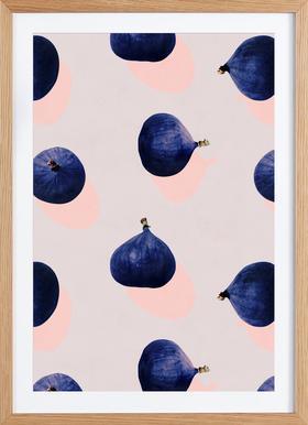 Fruit 16 - Poster in Wooden Frame