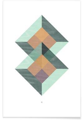 Translucent Geometry Green
