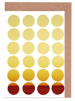 Warm dots -Grußkarten-Set