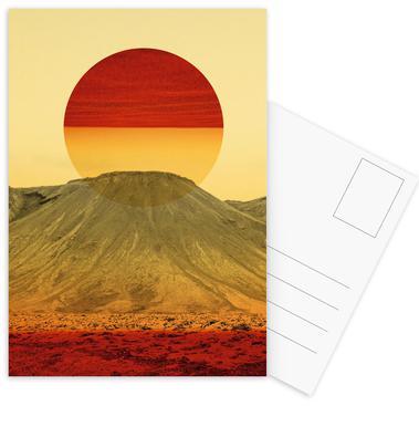 Warm abstraction Postcard Set