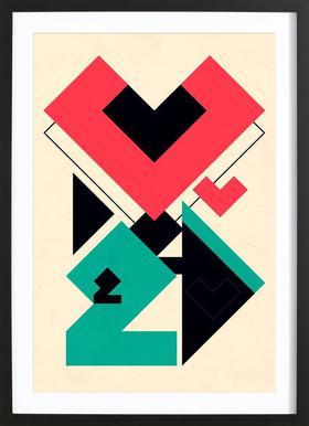Love 2 play -Bild mit Holzrahmen
