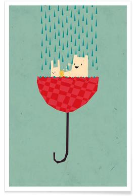 Umbrella bath time! -Poster
