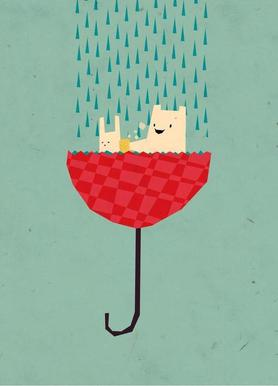 Umbrella bath time! Canvas Print