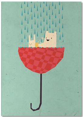Umbrella bath time! Notepad