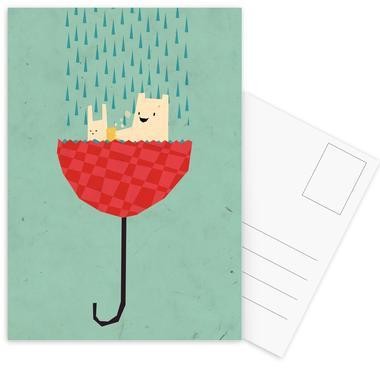 Umbrella bath time! Postcard Set