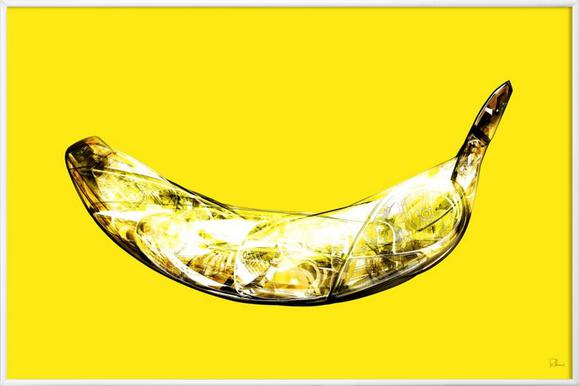 Lambda-Banana - Poster in kunststof lijst