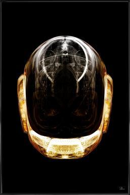 Daft Gold -Bild mit Kunststoffrahmen