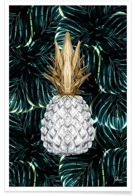 Ananas Gold Poster