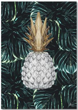 Ananas Gold Notepad