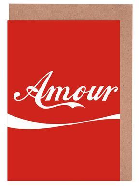 Amour Red cartes de vœux