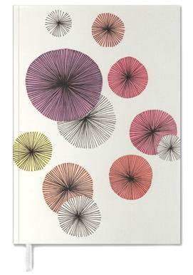 Line Art Blossom violet agenda