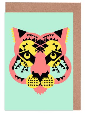 Tiger Face Greeting Card Set
